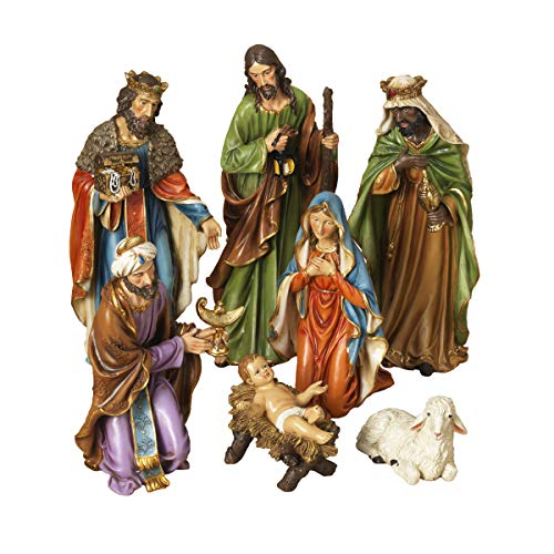 The Gerson Companies 23' Set of 7 Large Resin Nativity Scene Christmas Figures 2421130
