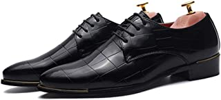 Men's Business Oxford Casual Fashion New Mesh Comfy And Breathable Lace Patent Leather Stately Shoes casual shoes (Color : Black, Size : 39 EU)