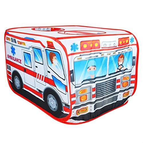 None/Brand Niños Ambulancia Tienda de campaña Casa de Juegos Casa de Juegos emergente Casa de Juegos para niños al Aire Libre Casa de Juegos de Juguete Casita de Juegos 27.95x44.09x27.95 Pulgadas