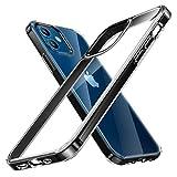 TORRAS 高耐衝撃 iPhone 12 用ケース iPhone 12 Pro 用ケース 高透明 米軍MIL規格取得 非ニュートン流体 クリア 10倍黄変防止 レンズ保護 滑り防止 2020 6.1インチ アイフォン12用 12 Pro用カバー ブラック
