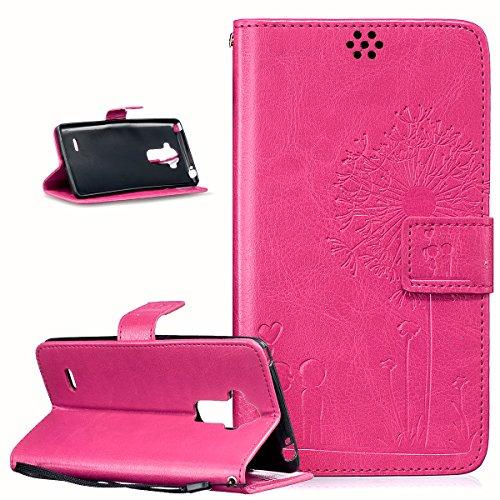 LG G Stylo Funda, LG G4Stylus caso, ikasus), diseño de diente de león Love los amantes de los de piel sintética plegable tipo cartera para, funda de piel tipo cartera con función atril para tarjetas