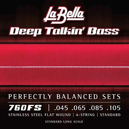 La Bella 760FS Deep Talkin' Flatwoound Strings