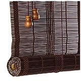 Lujosas persianas Romanas de bambú para Ventanas, con Accesorios de instalación, Cortinas Decorativas multifuncionales Retro, fácil instalación para el hogar y el jardín
