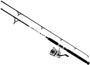 Daiwa DWB40-B/F802M D-Wave Saltwater Spinning Combo, 1 Bearing, 8' Length, 2Piece Rod, Medium Power, Fiberglass Blank Material