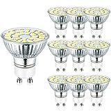 Hilleagle GU10 LED Lampe 5W Ersetzt 50 Watt Halogenlampen 3000 Kelvin Warmweiß 450 Lumen nicht dimmbar 110° Ausstrahlungswinkel 10er-Pack