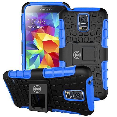 cases for samsung galaxy s5s Galaxy S5 Case Blue by Cable And Case - Ultra Tough Protection for Your Samsung Galaxy S5 Phone
