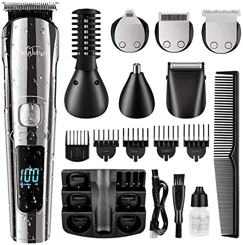 Brightup Beard Trimmer for Men Cordless Hair Clippers Hair Trimmer Waterproof Body Mustache product image