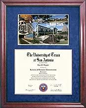 Wordyisms UT San Antonio (UTSA) Diploma Frame with Campus Photo Montage