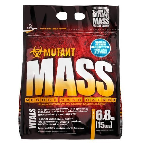 PVL Mutant Mass 6800 g Vanilla Weight Gain Shake Powder by FITFOODS