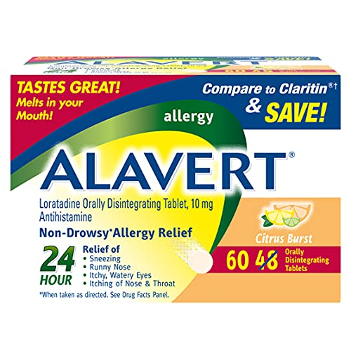 Alavert Allergy 24Hour Relief (Citrust Burst Flavor Orally Disintegrating Tablets), NonDrowsy,...