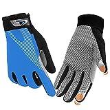 FUDOSAN Cycling Gloves Touchscreen Ultimate Frisbee Gloves Non-Slip Flexible Thin Workout Gloves