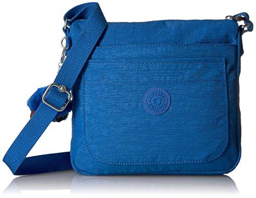 Kipling Women's Sebastian Crossbody, Super Light, Durable Messenger, Nylon Shoulder Bag, Beloved Blue