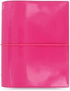 Filofax A5 Domino Patent Organiser - Hot Pink/Black/Red