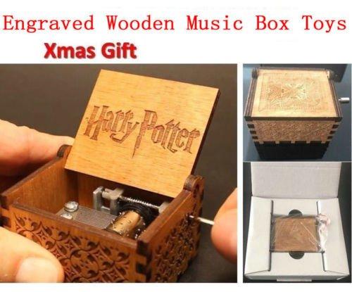 ハリーポッター オルゴール Harry Potter Engraved Wooden Music Box Interesting Toys Kid Xmas Gi. [並行輸入品]