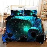 Gabapipa Juego de Cama para niños, 3D Galaxy, King Size, Galaxia misteriosa Funda Nórdica y Funda de Almohada, para Niños Chicos Chica 200 x 200 cm