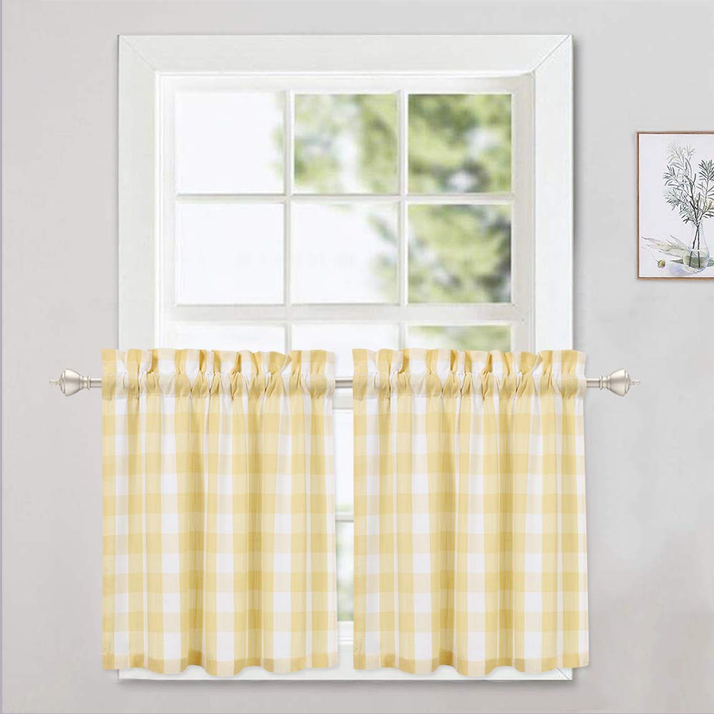 Making Cafe Curtains Kitchen Drapes