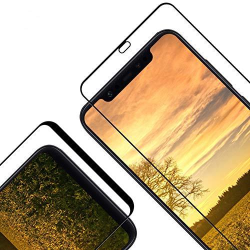 Cristal Templado para Xiaomi Mi 8/ Mi 8 Pro, [2 Piezas] [Cobertura Completa] [2.5d Borde] [9H Dureza] [Sin Burbujas] Vidrio Templado Premium Protector de Pantalla para Mi 8/ Mi 8 Pro