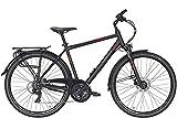 ZEG Pegasus Solero SL Disc Herrenfahrrad 24 Gang Trekkingrad 2020, Farbe:schwarz, Rahmenhöhe:58 cm