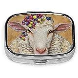 Organizzatore portatile per pillole di Lady Sheep, organizzatore giornaliero di vitamine per la medicina della cassa della pillola da viaggio