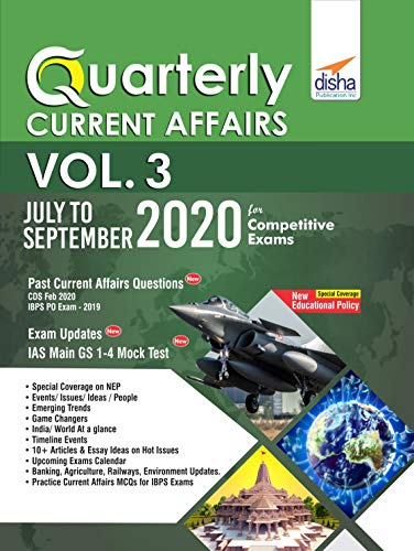 Quarterly Current Affairs Vol. 3 - July to September 2020 for Competitive Exams