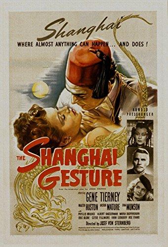 ODSAN The Shanghai Gesture, Gene Tierney & Walter Huston, Victor Mature, 1941 - Foto-Reimpresión película Posters 28x41 pulgadas - sin marco