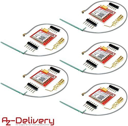 AZDelivery ⭐⭐⭐⭐⭐ 5 x SIM800L GSM GPRS Modul mit Antenne für Arduino inklusive Ebook