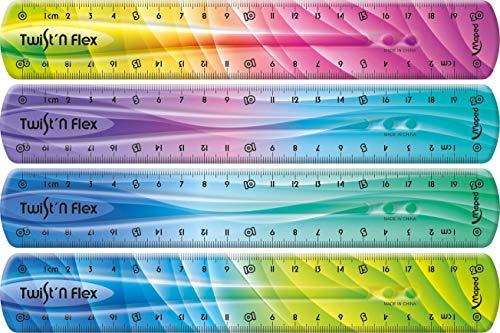 Maped 279215 - flexibles Lineal TWIST´n FLEX DECOR, 20 cm - Das Original! Mit neuem Farb-Verlauf - verschiedene Farb-Verläufe
