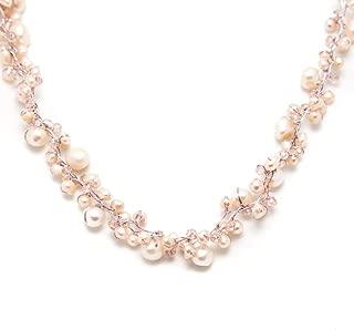 Genuine Cultured Freshwater Pearl Three (3) Strand Silk Thread Princess Length Necklace 17-19