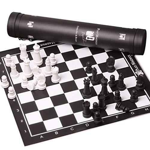Blanco y Negro de ajedrez de Viaje de Piel Chino Juego de ajedrez de Madera Maciza de Ajedrez Educativo Juego de Mesa de Alta Gama Junta de Regalos, Juegos educativos, Regalos