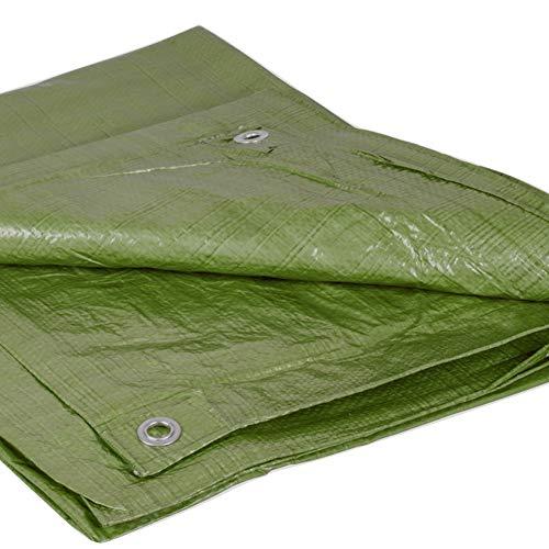 Abdeckplane Holz 6x8m grün   Plane für Garten Outdoor Camping   90g/m² Gewebeplane mit Ösen