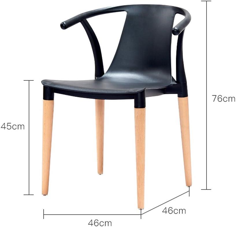 SLL- Accueil Chaise à Manger Chaise Moderne Loisirs Chaise créative Retour Fauteuil en Plastique Moderne (Color : F) F