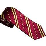Xmiral Krawatten Herren Gestreifter Druck Krawatten Silk Business Suit Jacquard Woven(Rot)