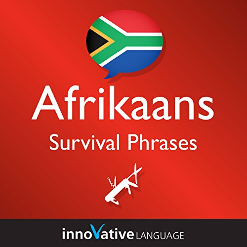 Learn Afrikaans - Survival Phrases Afrikaans, Volume 1 audiobook cover art