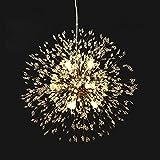 Lingkai Moderno LED Lámpara de techo de cristal Elegante Bolas de cristal Lámpara...