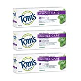Luxury Beauty & Personal Care! - Tom's of Maine Whole Care Natural Toothpaste with Fluoride, Spearmint, 4 oz. 3-Pack