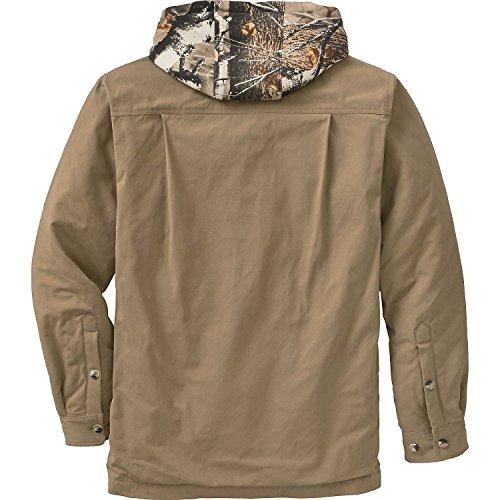 Legendary Whitetails Men's Voyager Hooded Shirt Jacket Oak Large
