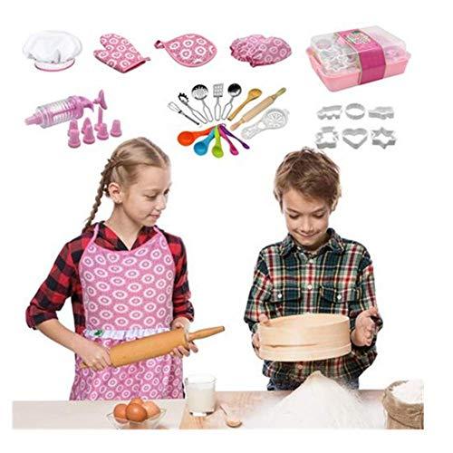 SOWLFE Juego completo de juguetes para hornear para niños, juego de rol para niños y niños a partir de 3 años
