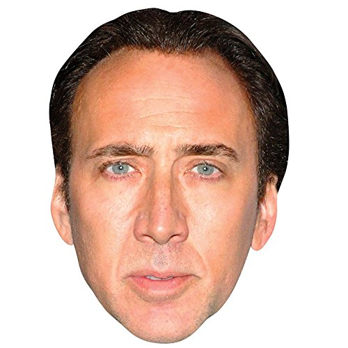 Nicolas Cage Celebrity Mask, Flat Card Face, Fancy Dress Mask