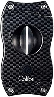 Colibri V-Cut Cigar Cutter - Black Carbon Fiber