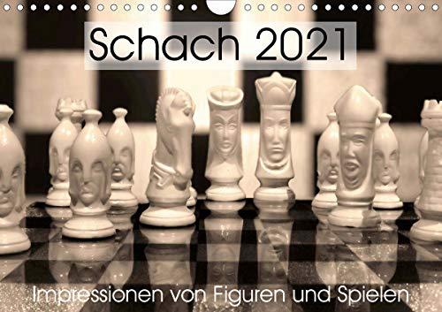 Schach 2021. Impressionen von Figuren und Spielen (Wandkalender 2021 DIN A4 quer)