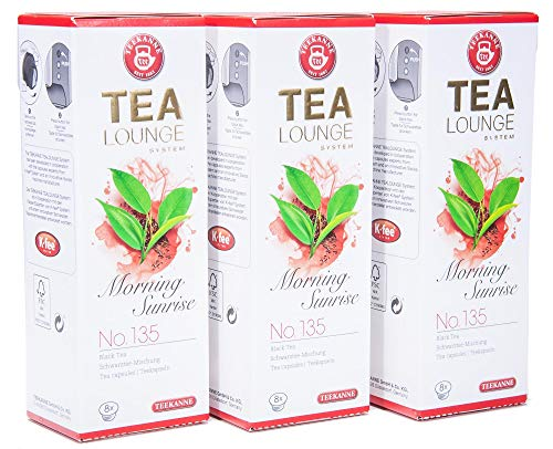 Teekanne Tealounge Kapseln – Morning Sunrise No. 135 Schwarzer Tee (3×8 Kapseln)