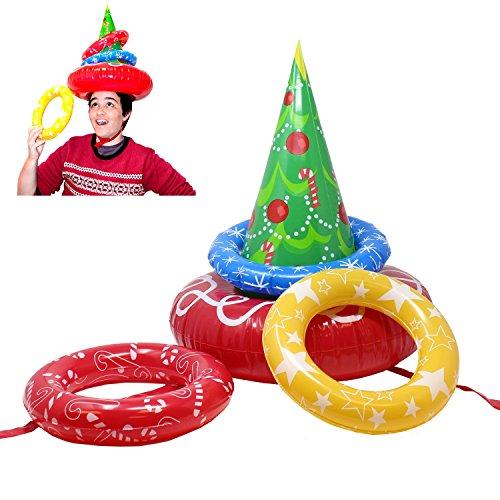 JOYIN Inflatable Christmas Tree Toss Game for Christmas Parties Games