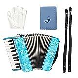 Pianoakkordeons 22-Tasten 8 Bass Keyboard Akkordeon Ensemble Ausführendes Instrument Ahornholz...