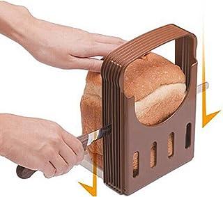 junengSO Trancheur de Pain, trancheuse de Pain de Bagel réglable Coupe-Pain de Pain grillé Outil de Tranchage de Sandwich ...