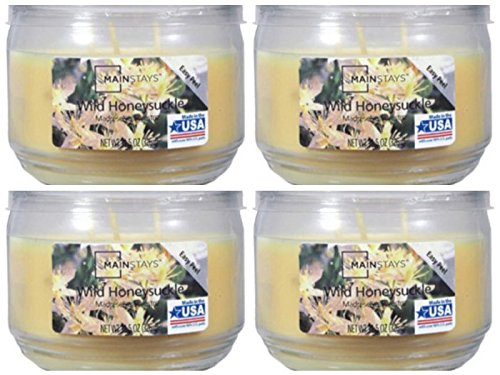 Mainstay 11.5oz Scented Candle, Wild Honeysuckle 4-Pack