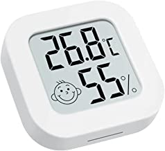 Defeat Thermo-hygrometer, digitale thermo-hygrometer, binnen- en buitentemperatuur- en luchtvochtigheidsweergave, mini-the...