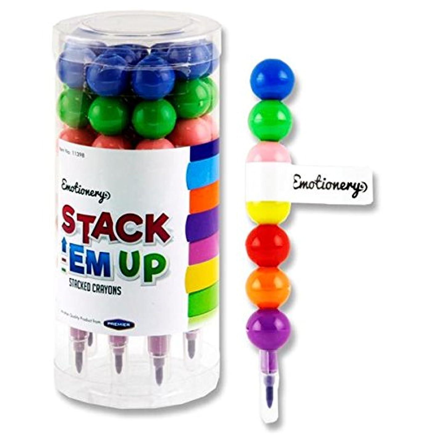 Premier Stationery G3811398 Emotionery Stack 'Em Up 7 Stacked Crayon (Pack of 10)