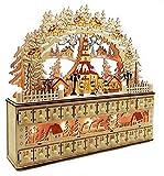 Wichtelstube-Kollektion XL LED Schwibbogen mit Adventskalender Seiffener Kirche Lichterbogen Schwippbogen Erzgebirge