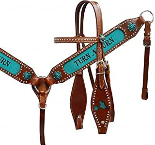 Showman Leather Bridle & Breastcollar Set w/
