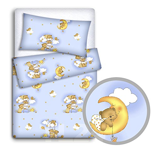 Baby Bedding Set Kussencase + Dekbed Cover 2Pc Naar Baby Cot Bed (Ladder Blue)